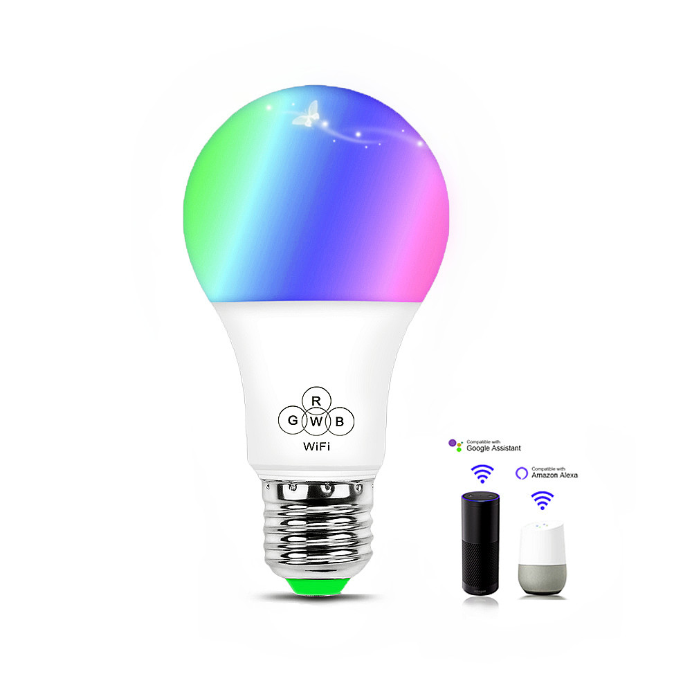WIFI Smart Music Bulb 4.5W E27 RGBW+CCT color Dimmable Support Amazon Alexa & Google Home IOS/Android APP Control AC85-265V