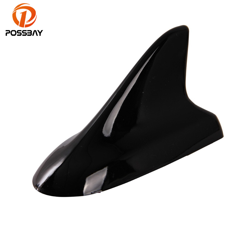 POSSBAY Universal Car Antenna Black Shark Fin Roof Aerial Decoration For VW Nissan Honda BMW Toyota Car Stickers Antena Tiburon