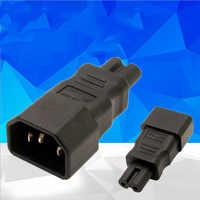 2PCS Universal Power Adapter IEC 320 C14 To C7 Adapter Converter C7 to C14 AC Power Plug Socket 3 Pin 2 Pin IEC320 Adapter