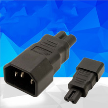 2PCS Universal Power Adapter IEC 320 C14 to C7 Converter AC Plug Socket 3 Pin 2 IEC320