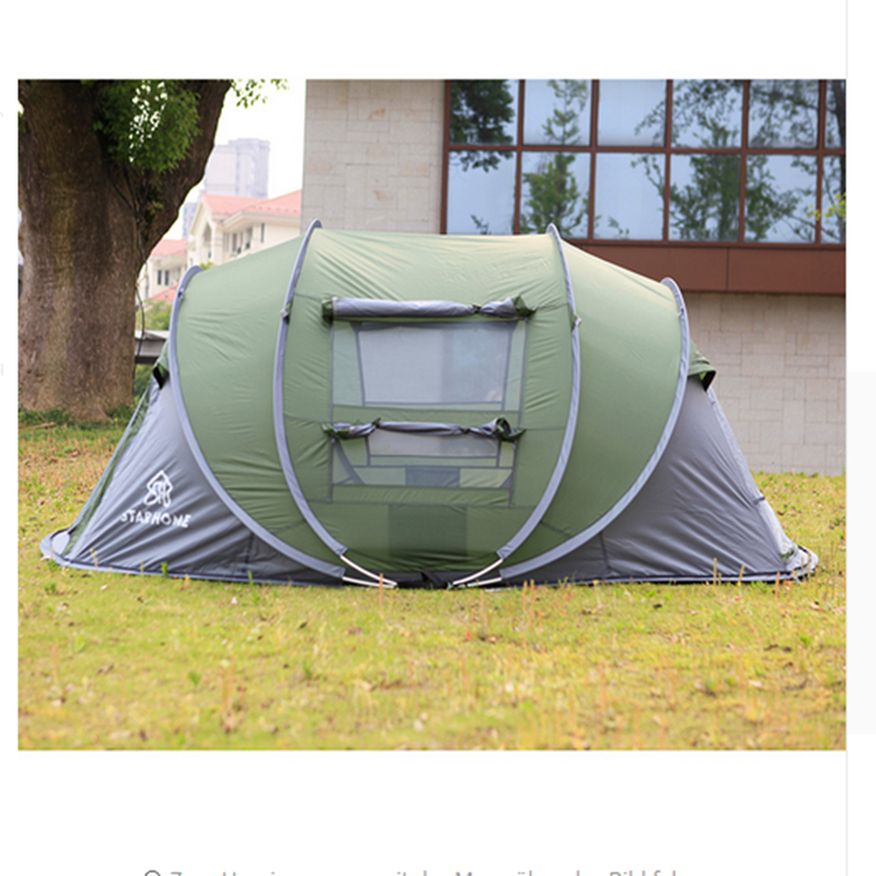 Waterproof Beach Camping Tent Outdoor 3-4 persons Automatic Speed open tent outdoor camping hiking automatic camping tent 4person double layer family tent sun shelter gazebo beach tent awning tourist tent