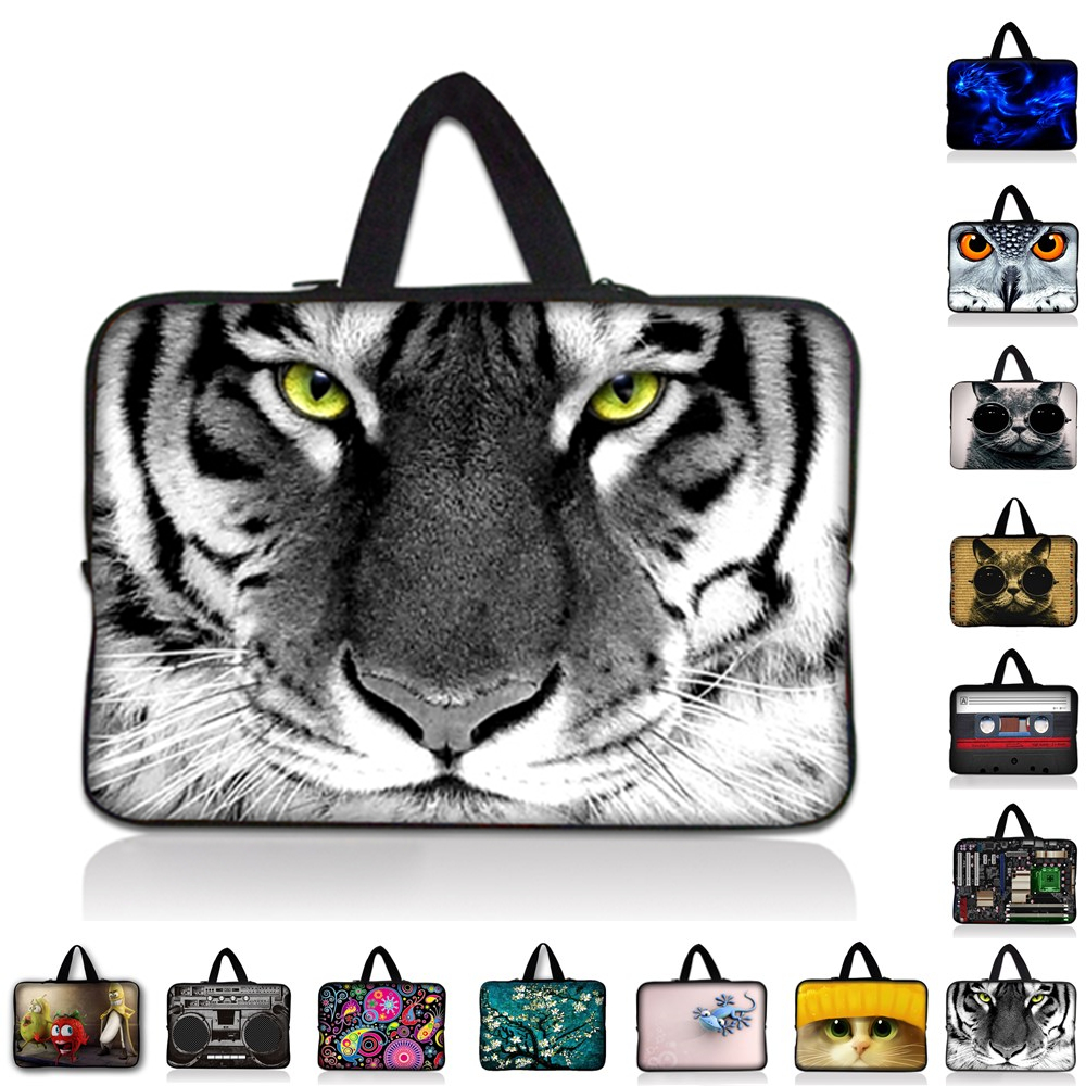 9.7 10.1 11.6 13 13.3 14 14.4 15 15.4 15.6 inch Tiger Painted Laptop Sleeve Bag Tablet Case for Macbook For Lenovo HP Asus Acer