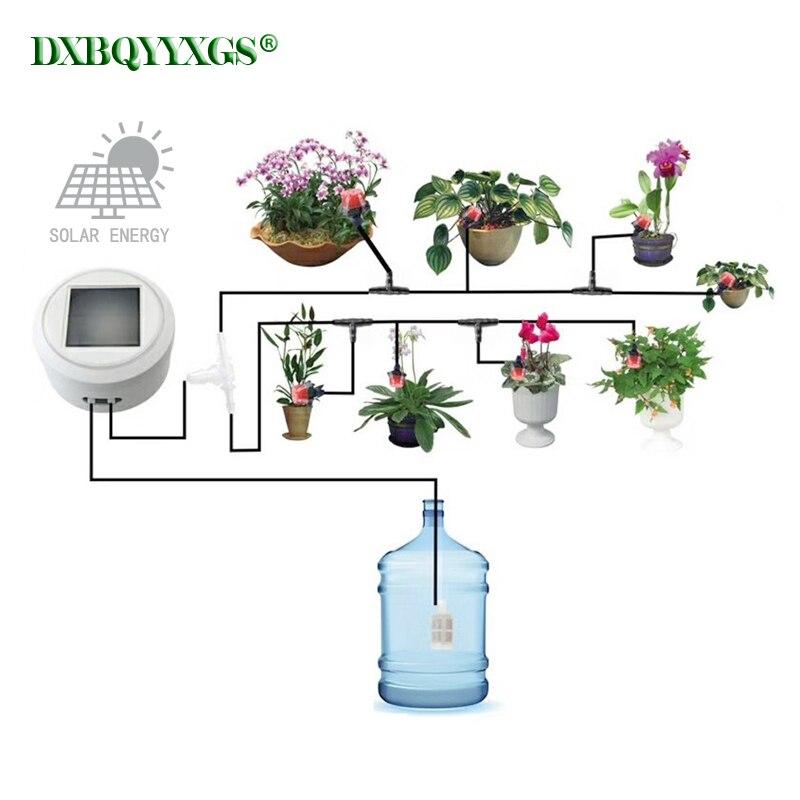 Solar energie aufladen Intelligente garten automatische bewässerung gerät Sukkulenten anlage Tropf bewässerung werkzeug wasserpumpe timer system-in Bewässerungs-Kits aus Heim und Garten bei  Gruppe 1