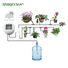 Solar energy charging Intelligent garden automatic watering device Succulents plant Drip irrigation tool water pump timer system exported to 58 countries solar water pomp 3 years guarantee solar pump system for irrigation