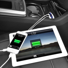 LED Screen Dual USB Car Charger