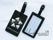 Star Alliance Багажная Бирка Черный Резиновые Путешествия Тег Специальный Подарок для Любителей Авиации Летный Экипаж