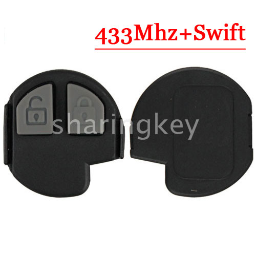 Free Shipping (1piece)replacement Remote 2 Button 433MHZ  Fob Key 4Y-TS002 For Suzuki Swift (YY)
