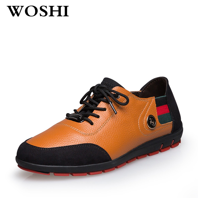 Men Casual Shoes 2018 autumn Lace up Comfort Breathable Genuine Leather Fashion flats Mens Leisure Shoes for men big size p35 men leather shoes casual 2017 autumn fashion shoes for men designer shoes casual breathable big size mens shoes comfort loafers