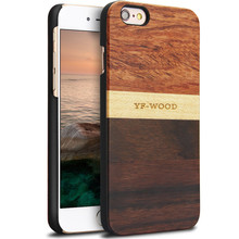 YFWOOD Wooden Case for iPhone 6 6s 4.7 inch Real Wood Splicing Pattern Phone Cover for Apple iphone 6
