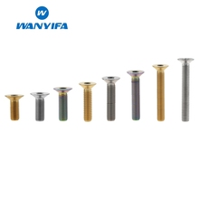 Wanyifa M6x10 15 20 25 30 35 40 45mm Countersunk Head Titanium Bolt Screw for Bicycle Pedal Bike Accessories
