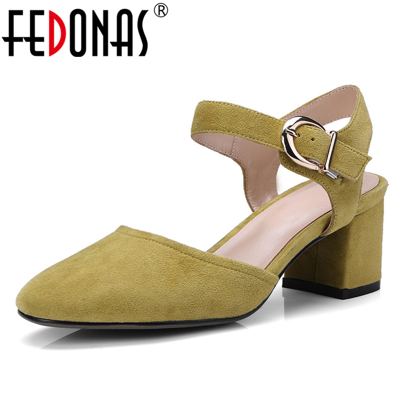 FEDONAS Women Sandals High Heels Summer Sexy Gladiator Party Ladies Mary Jane Pumps Female Wedding Shoes Woman sandals Women fashion buttons rivet studs high heels designer gladiator sandals red black women pumps party dress sexy wedding shoes woman