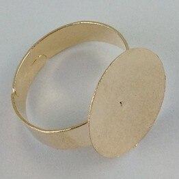 Бесплатная доставка мода оптовая продажа MIC 100 шт. роуз позолоченные цоколь бланк клей - на 15 мм PAD DIY ювелирных W573