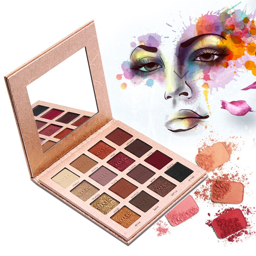 Eye Makeup 16-Color Sunset Shimmer Glitter Eyeshadow