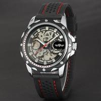 2016 2016 Top Luxury Brand Winner Watch Men Automatic Mechanical Silicone Strap Sports Male Wristwatch