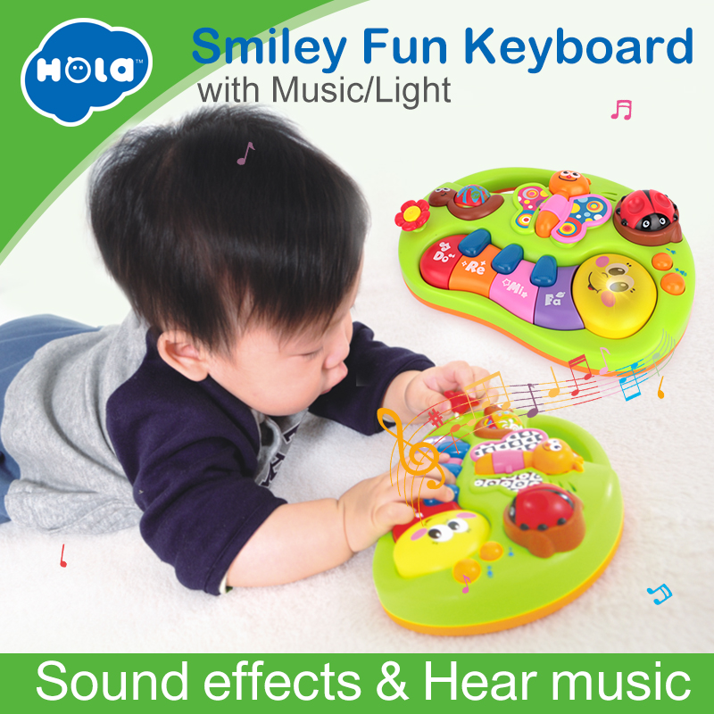 HOLA 927 Baby Legetøj Lær Maskin Toy med Lights & Music & Learning Stories Toy Musical Instrument for Toddler 6 måneder +