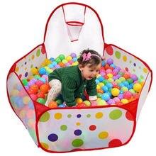 Портативный детский мяч Яма бассейн с игровой корзиной палаточный домик для игр для ребенка в помещении и игрушка для игр на открытом воздухе палатки игровой дом