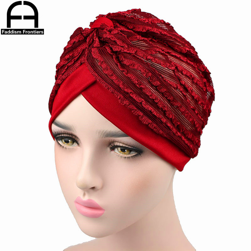 a1a642b28 US $3.12 5% OFF|Fashion Women Summer Turban Breathable Cool Knitted Turban  Hat Chemo Headwear Bandanas Headband Hair Accessories Hijab Turbante-in ...