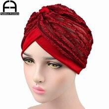 Fashion Women Summer Turban Breathable Cool Knitted Hat Chemo Headwear Bandanas Headband Hair Accessories Hijab Turbante