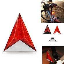 Luz LED roja de advertencia para bicicleta, luz trasera de seguridad, accesorios para bicicleta, luz delantera y trasera Vintage #3O31