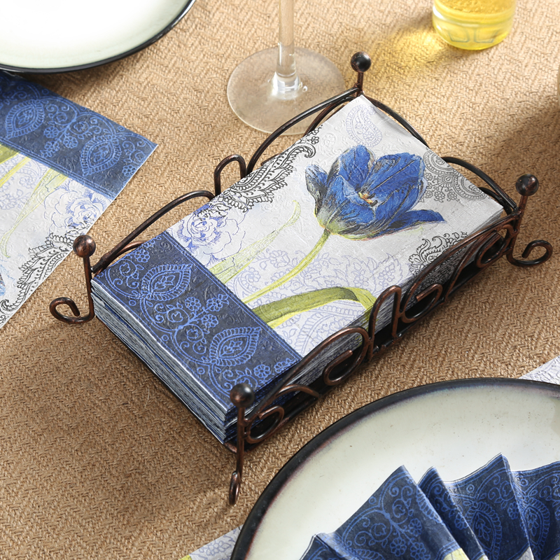 Guest paper napkins 15pcs 3340cm 3 ply vintage blue flower paper guest paper napkins 15pcs 3340cm 3 ply vintage blue flower paper napkins for decoupage wedding napkin embossed napkins 4nge5364 mightylinksfo