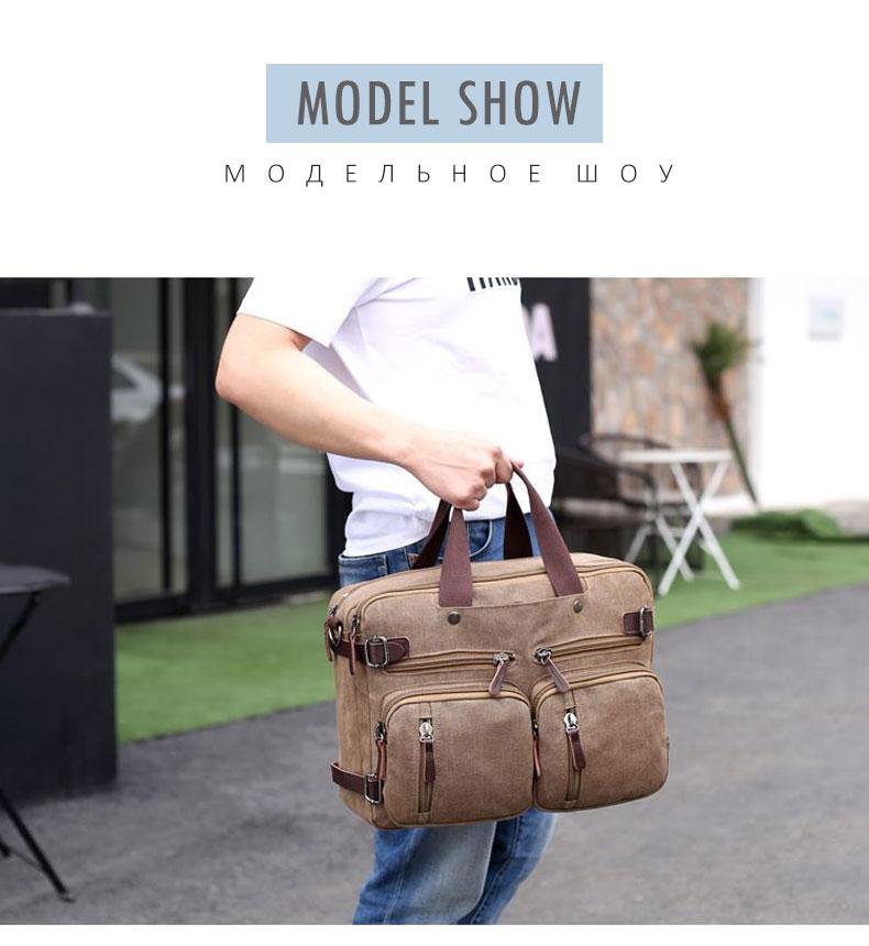 HTB1m8BlB4uTBuNkHFNRq6A9qpXaP Scione Men Canvas Bag Leather Briefcase Travel Suitcase Messenger Shoulder Tote Back Handbag Large Casual Business Laptop Pocket