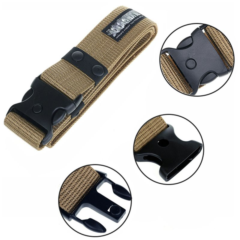 Combat Waistband Army Military Tactical Belts Adjustable Survival Men Heavy Duty image