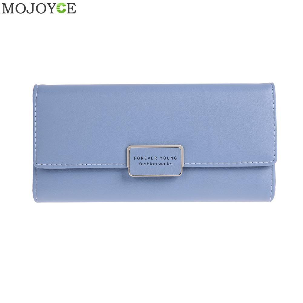 Female Elegant Long Wallets Letter Printed Fashion Simple Purse Women Card Girl Purse Small Clutch Leather Holder Women Purses