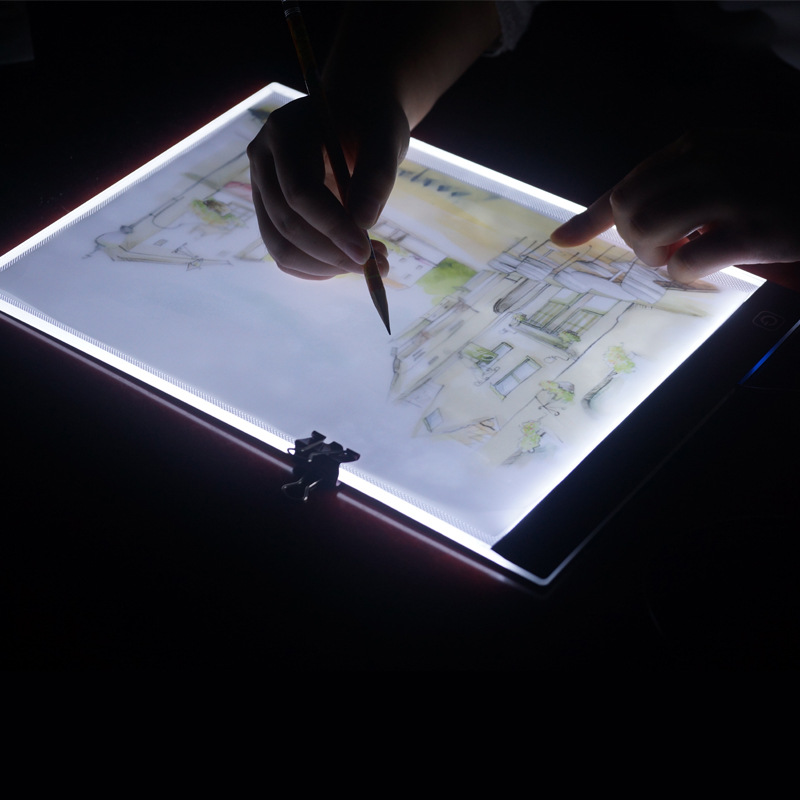 Portable A4 Led Light Box Drawing Tracing Tracer Copy Board Planners Pad Panel Copyboard With Usb Cable For Artist Animation ultra thin a4 led art copy board craft tracing drawing table pad light box ah298