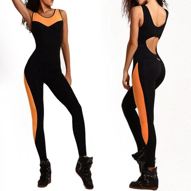 Спортивный костюм для фитнеса Для женщин комплект для йоги с низким вырезом на спине тренажерный зал комплект для бега Спортивная Леггинсы плотные Комбинезоны для тренировок спортивные Костюмы