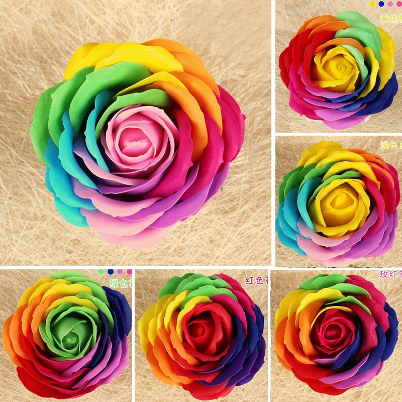 2016 explosions 8 cm colourful rose flower bouquets soap for Pics of colourful roses