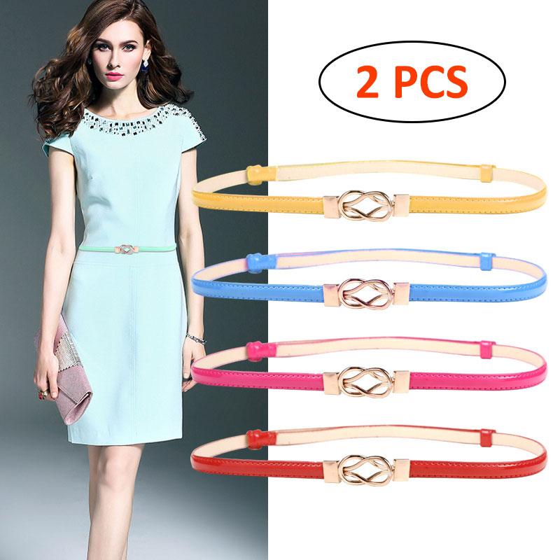 Corset Belt For Women Dresses Retro Adjustment Stretchy Metal Buckle Skinny Waist Cinch Belt Solid Pink Clasp Belts For Dress