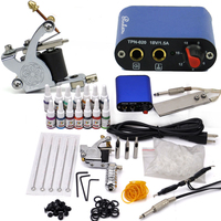 Beginner Rotary Tattoo Kit Tatoo Machine 14 Color Inks Professional Tattoo Gun Power Supply Power Tip