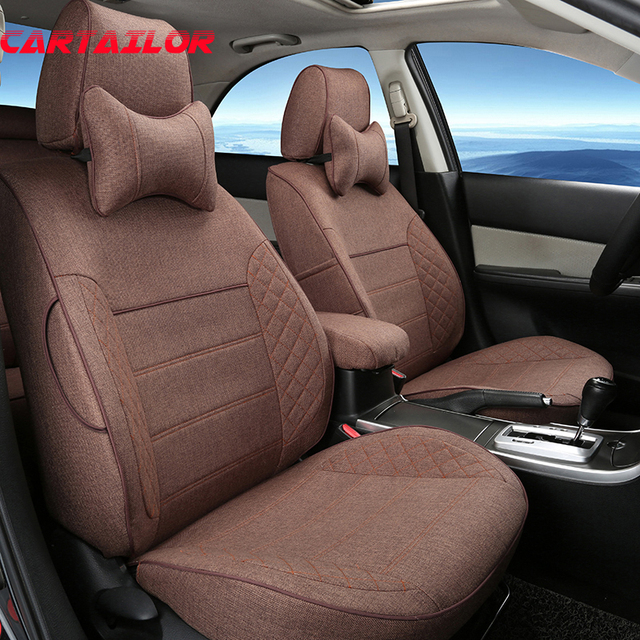 Cartailor Linen Fabric Car Seats Custom Fit For Audi A7 Seat Cover Sets Auto Cushion