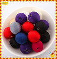 100Pcs/Lot Fashion Mixed Wool Beads Covered Woven Knitted Plastic Ball Bead 20mm Fit Jewelry Handcraft Making