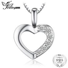 925 Sterling Silver Heart Love Pendant & 43cm 925 Sterling Silver Necklace Chain Marca Fine Jewelry 2016 Nuovo regalo di San Valentino