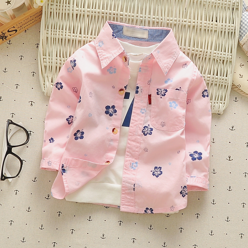 274a2a051c US $10.35 5% OFF|Baby boys shirts floral print long sleeve 2018 spring  children's clothing 100% cotton fashion infants kids top tees clothes-in  Shirts ...