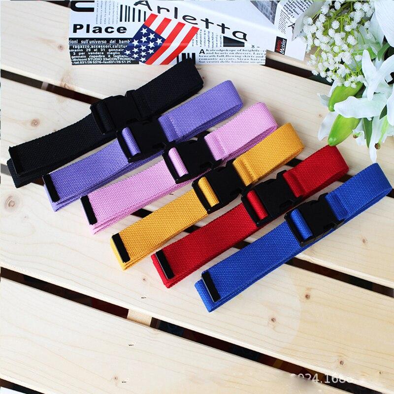 Adults Adjustable All-Match   Belt   Unisex Korean Style Canvas   Belts   Harajuku Buckle Solid Color Long   Belts