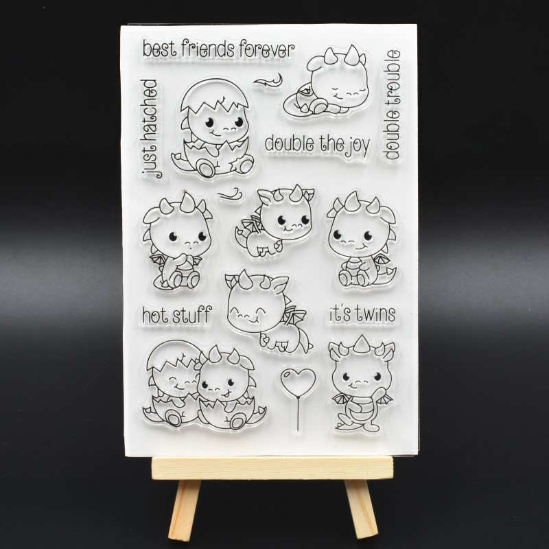 Cute Hatching Dragon Transparent Clear Silicone Stamp/seal for DIY Scrapbooking/ Album Decorative Clear Stamp Sheets  A452 маска для сноуборда dragon mdx nerve green ionized clear aft