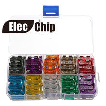 100Pcs/Lot medium Blade Fuse Assortment Auto Car Motorcycle SUV FUSES Kit APM ATM 2A 3A 5A 7.5A 10A 15A 20A 25A 30A 35A+BoX(China)