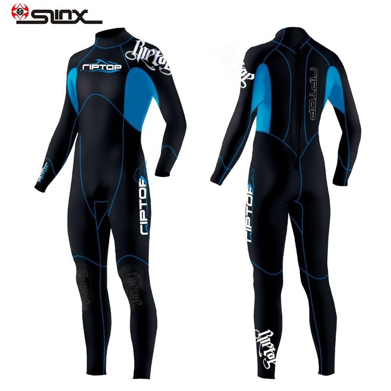 SLINX 3mm One-piece Wet Suit Men Women Neoprene Scuba Diving Suit Swimwear for Winter Surfing Snorkeling Spearfishing Water Ski