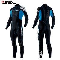 SLINX 3mm One piece Wet Suit Men Women Neoprene Scuba Diving Suit Swimwear for Winter Surfing Snorkeling Spearfishing Water Ski
