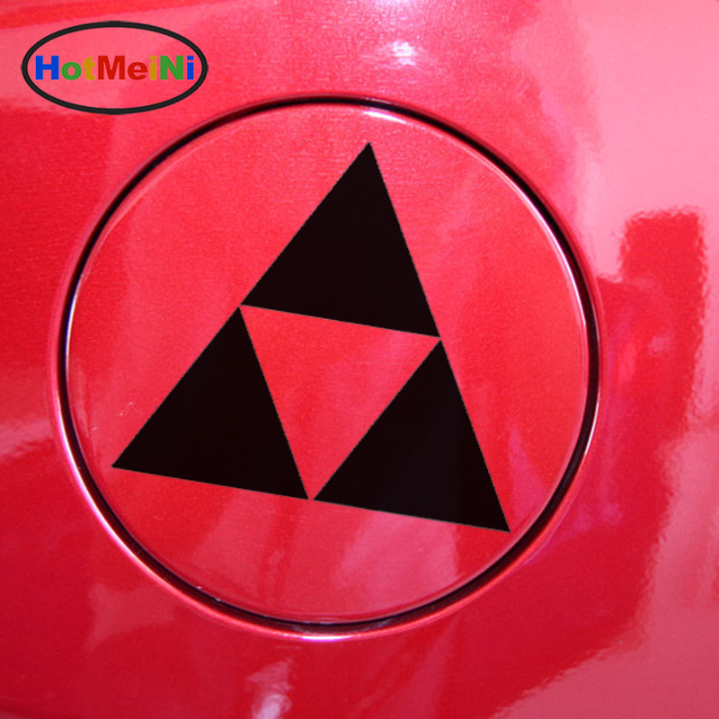 HotMeiNi Superposition Triangle Logo Zelda Car Sticker for Motorhome Motorcycles Car Styling Waterproof Vinyl Decal 10 Colors