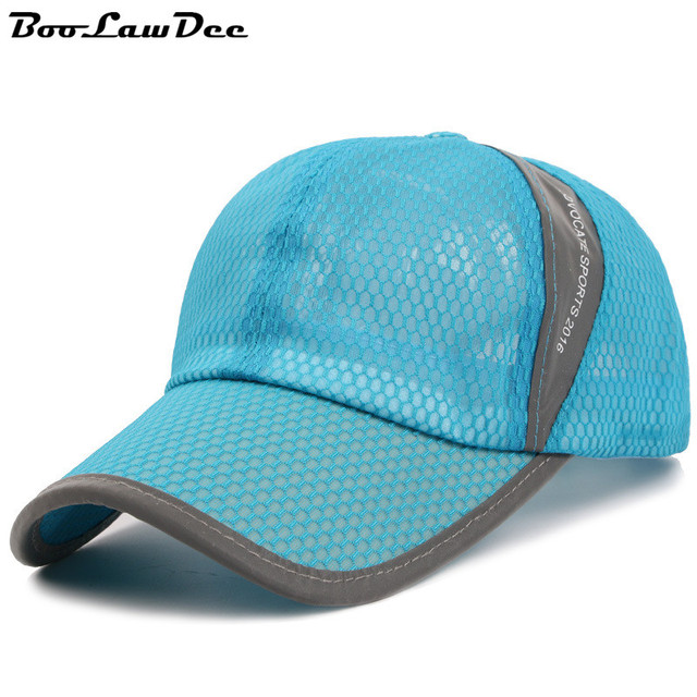 BooLawDee Summer comfortable uv resistance full mesh baseball hat 56-62cm adjust fastener closure red khaki gray orange 4C009