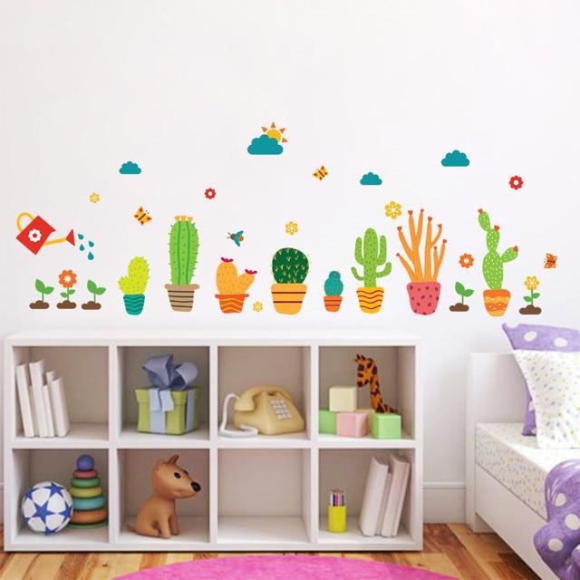 Giardino piante da Fiore Wall Stickers Nursery Baby Per Bambini in ...