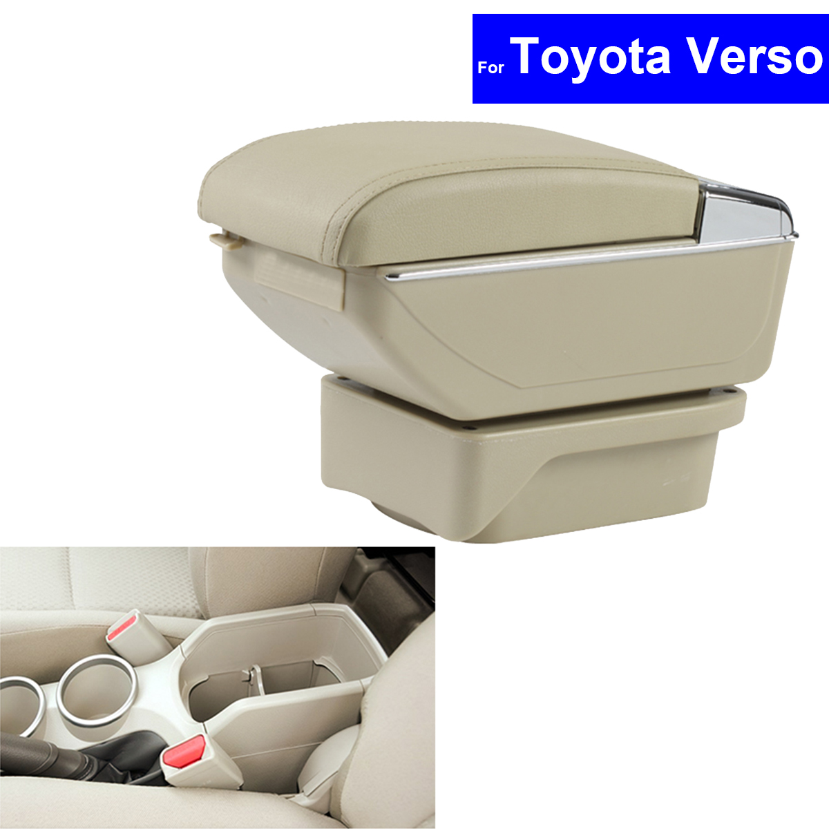 Leather Center Console Armrest Storage Box for Toyota Verso 2011 2012 2013 2014 2015 Armrests Free Shipping car styling 1pcs center console armrest storage box elbow supporting armrest for nissan qashqai sunny tiida livina