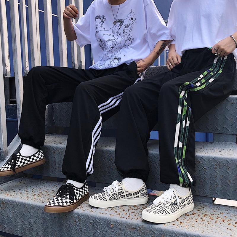 Women Long   Pants     Capris   White Camouflage Stiped   Pant   Oversize Streetwear harajuku BF style Boyfriend Couple Wear hip hop   Pants
