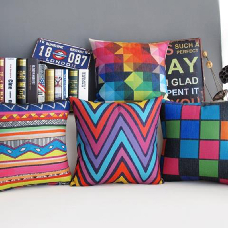 Geometric Cushion Decorative Pillows Colorful Cushions Home Decor/capa Para Almofada/cojines Decorativos