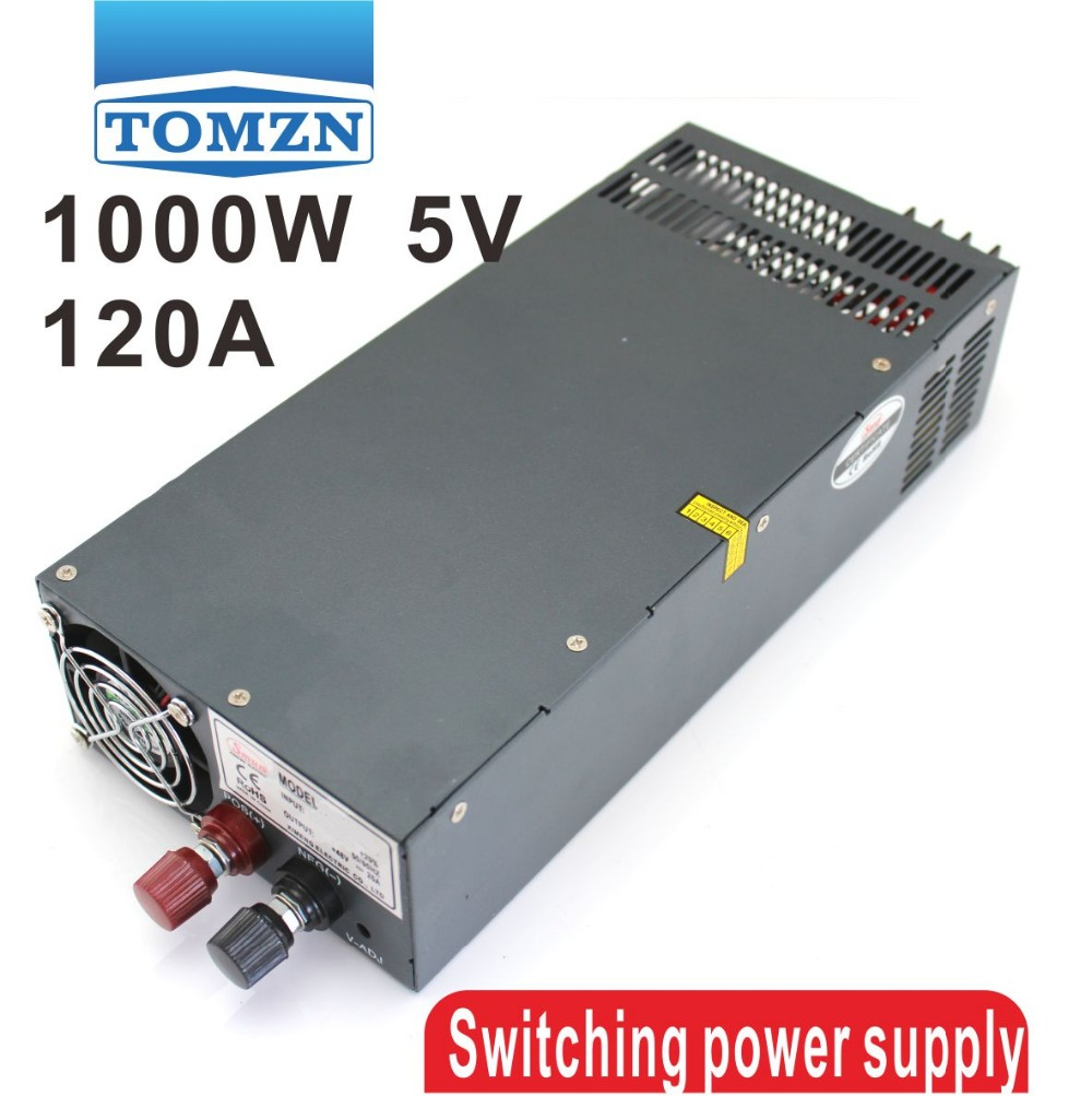 1000W 0 to 5V adjustable 120A Single Output Switching power supply AC to DC 110V or 220V