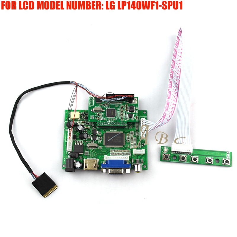 Demo Board Hdmi Vga 2av Controller Board Module Monitor Kit For Lg Lp140wf1-spu1 14 1920x1080 Tft 30pin Edp 2 Lanes Lcd Display Panel Bright And Translucent In Appearance Back To Search Resultscomputer & Office