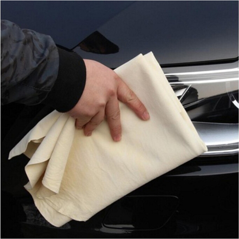 1pcs Car Cleaning Cloth Washing Suede Absorbent Towel Natural Chamois Leather